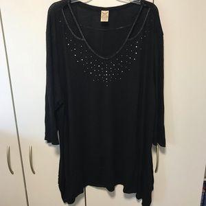 Faded Glory black sweater size 4X
